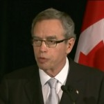 Joe Oliver in Vancouver - screen grab