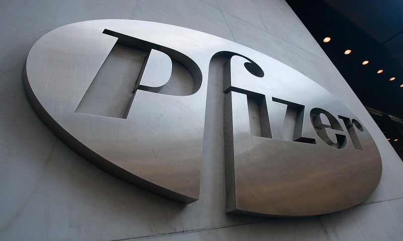 Pfizer building logo