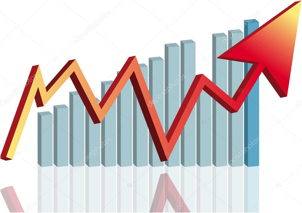 economic increase - depositphotos_2021941-stock-illustration-arrow-graph-red