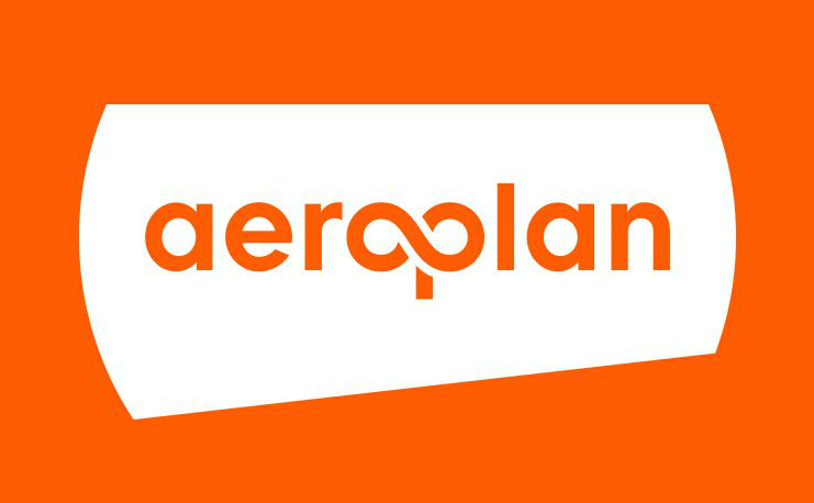 Aeroplan logo - orange