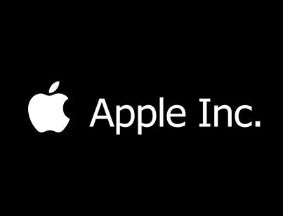 Apple Inc logo - black