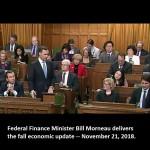 Morneau - fiscal update in Parliament