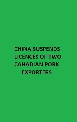 China - pork ban