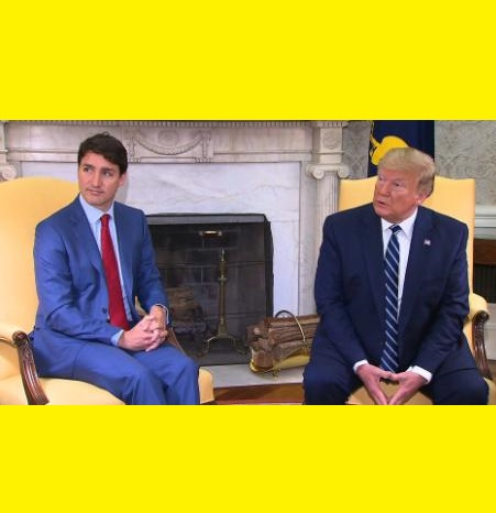 Trump and Trudeau at The White House - June 20 2019
