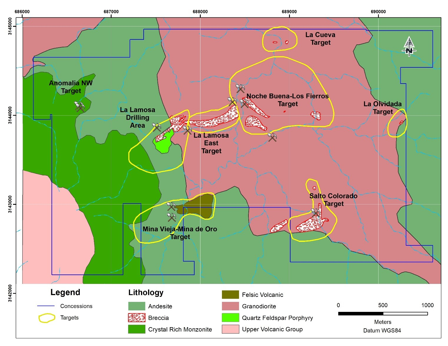 Magna Gold Corp Announces Results of its Ongoing Phase One Exploration Program on its Mercedes Property – Confirms Historical Drilling – Uncovers Seven New Exploration Targets