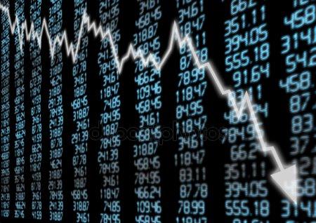 Stock market decline - Depositphotos
