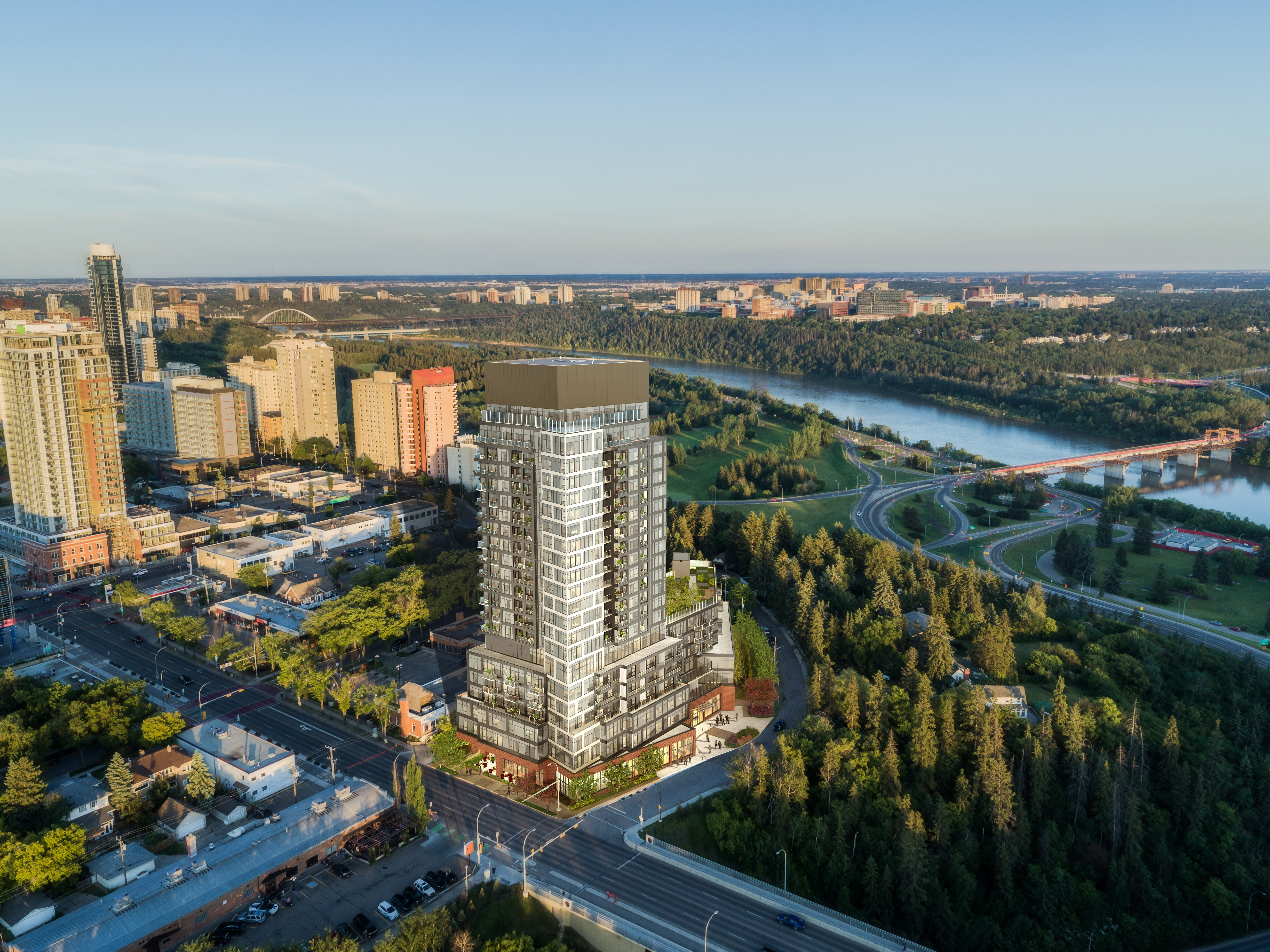 """ONE Properties and Revera break ground on """"Glenora Park"""" – a luxury retirement residence with stunning river valley views in the heart of Edmonton"""