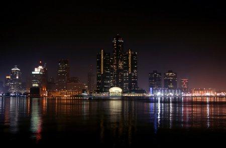 Detroit at night - Depositphotos