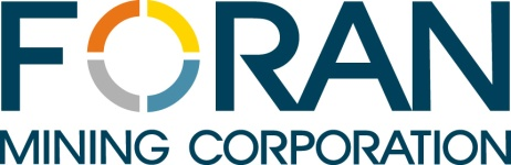Foran Announces Exercise of Stock Options
