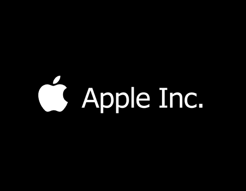 Apple Inc logo - black