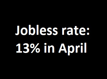 Jobless rate - April 2020