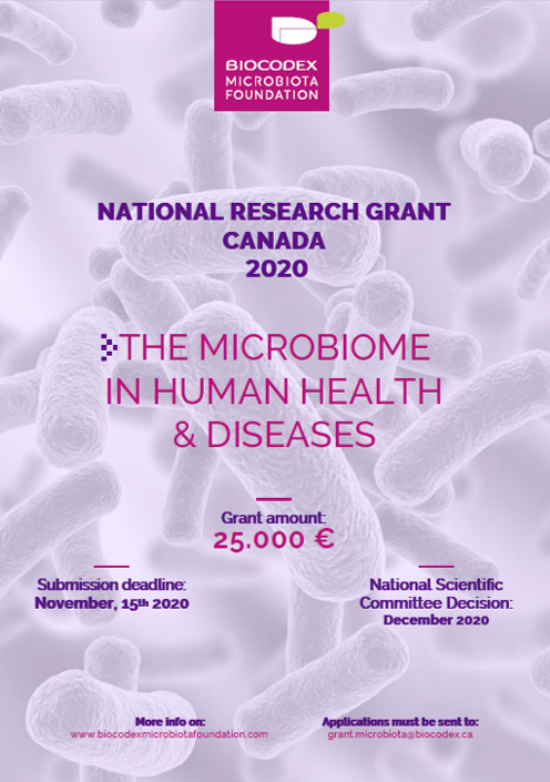 The Biocodex Microbiota Foundation calls for Canadian proposals to study the microbiome's role in health and diseases