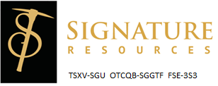 Signature Resources Announces Significant Gold Assay Results