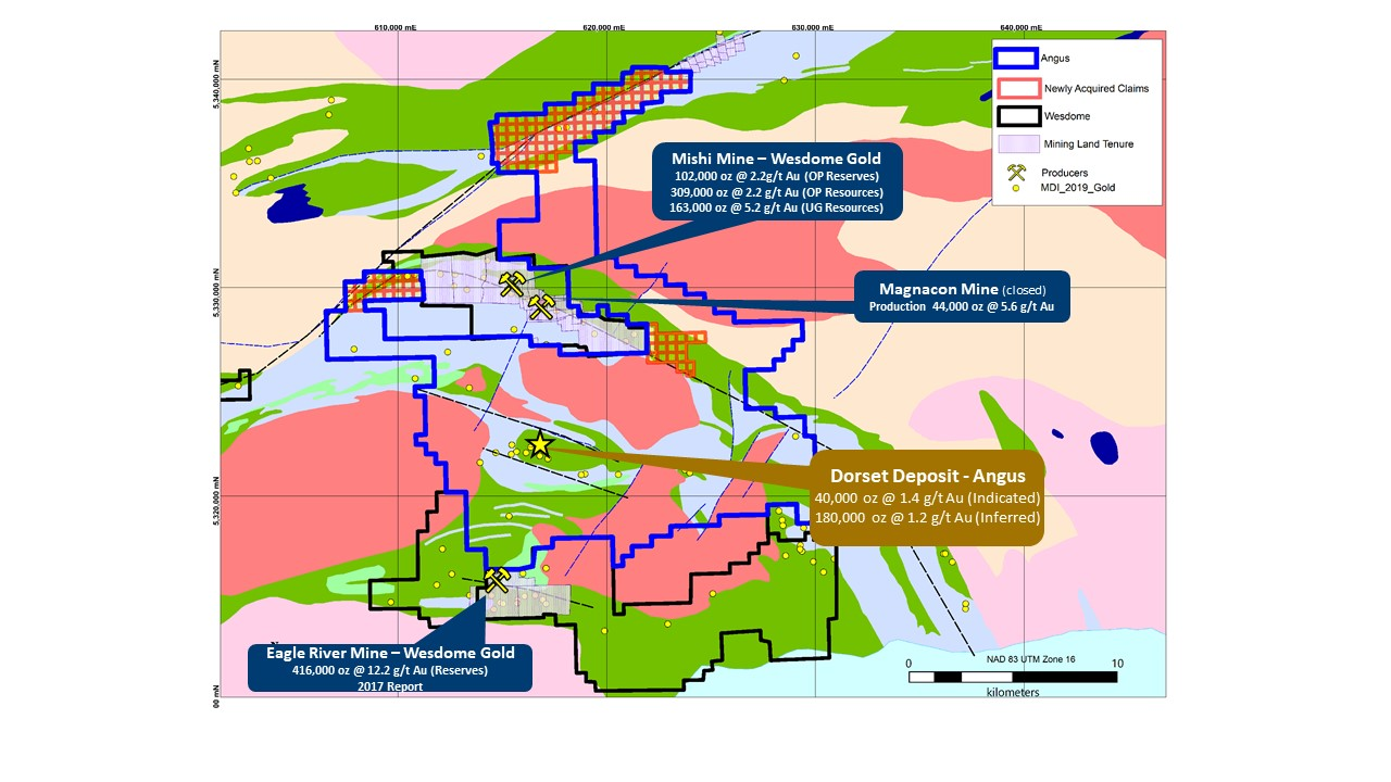 Angus Gold Acquires Additional Property at its Golden Sky Project, Wawa, Ontario