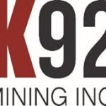 K92 Mining Announces Judd Underground Development Extension Results - Average J1 Vein Grade of 18.70 g/t AuEq at 3