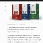 TAAT(TM) Obtains First National Mainstream Media Coverage in Forbes with an Article Profiling the Company