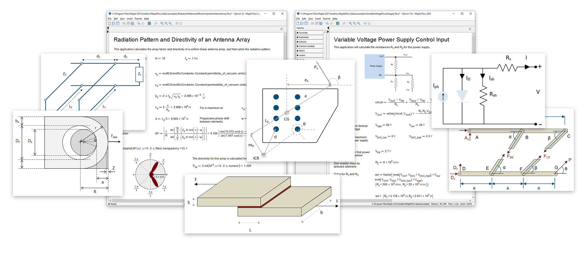 New Maple Flow product from Maplesoft provides a flexible mathematics tool for engineering projects