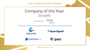 """Launchpad Technologies Named Finalist in BC Tech's 2021 Technology Impact Awards for """"Company of the Year – Growth"""" Category"""