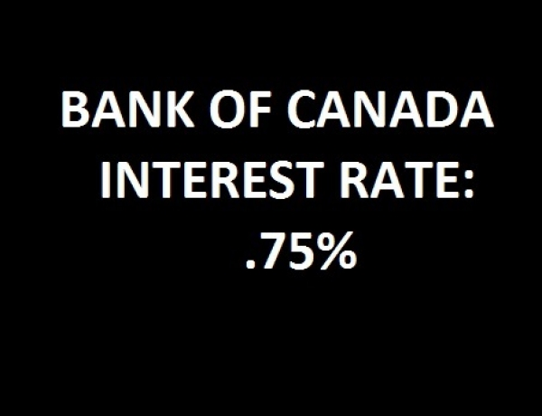 Bank of Canada Raises Interest By .25%