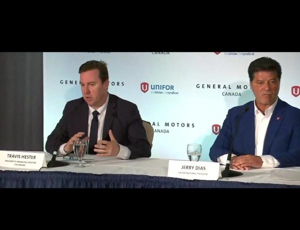 GM, Unifor Announce Oshawa Investment