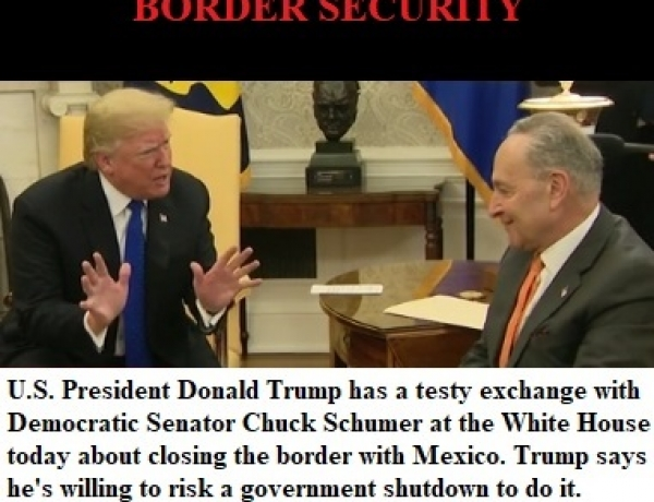 Trump Clashes with Schumer & Pelosi on Border Security