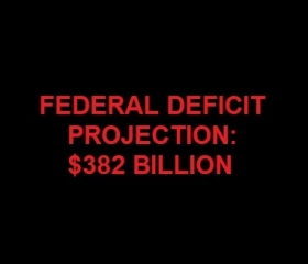 Deficit on Track to Hit $382 Billion