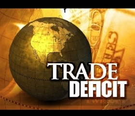 Trade Deficit Down in February
